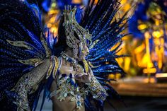 Dancers of Vila Isabel Samba School perform during the second night of the carnival parade at the Sambadrome on February 08, 2016.