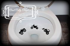 Taking Aim toilet targets DIRT VEHICLES 6 piece collection: dirt bike, monster truck, tractor, crane, dump truck, excavator