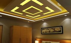 POP false ceiling designs LED ceiling lights