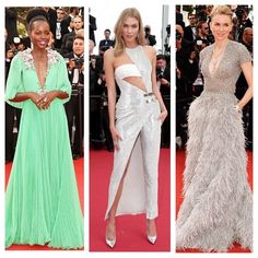#FashionTrumpet favourites from the #Cannes2015 opening ceremony are gorgeous Lupita Nyong'o looking fresh in Gucci supermodel Karlie Kloss sizzling in Official Versace and elegant Naomi Watts looking etheral in Elie Saab!! #celebritystyle #Cannes #sexy #stylish #redcarpet #fashionblogger #fashion #iconic