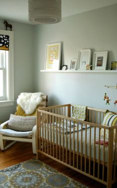 Lucy's chartreuse-y/mustard gender neutral nursery