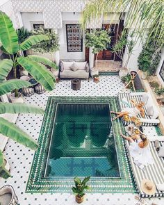 Home Interior Design — Riad Yasmine Hotel In Marrakech images ideas from Home Inteior Ideas Diy Home Decor Projects, Home Improvement Projects, Decor Ideas, Fun Ideas, Riad Marrakech, Piscina Interior, Sweet Home, Visit Morocco, Morocco Travel