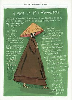 """""""A Visit to the Monastery"""" ~ Maira Kalman, The New Yorker, August 13, 2012"""