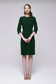 ok so the posture is very austere but this dress is I came to work today.