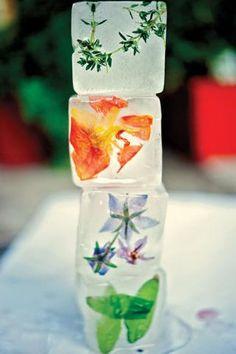 Entertaining Genius: Flower-Studded Ice Cubes