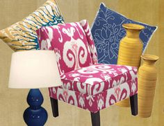 I pinned this from the Colorwheel: Magenta, Marigold & Marine - Bright Furniture, Accents, Lamps & Rugs event at Joss and Main!