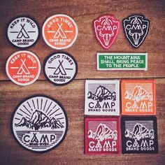 Camp Brand Goods - Patch   I feel like decen out all my camp cloths with these