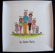 Personalized 10.25 Square Family Plate  great by cutiepatooties1, $38.50