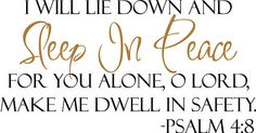 Sleep In Peace Bible Verse Decor vinyl wall decal quote Home sticker Inspiration for sale online Peace Bible Verse, Bible Verse Decor, Bible Verses Quotes, Scriptures, Bible Art, Peace Quotes, Home Quotes And Sayings, Wall Quotes, Sleep Quotes