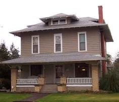 Colonial Revival The American Foursquare Foursquare House American Craftsman Craftsman Homes Cl Ic