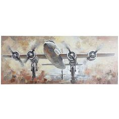 Dramatic, compelling and commanding attention, our wide, hand-painted canvas presents the golden age of aviation. Always ready for takeoff, this is exactly the artwork your study or den has been waiting for. Colorful Wall Art, Colorful Animals, Unique Wall Art, Airplane Wall Art, Rock Decor, Hand Painted Canvas, Aviation Art, Neutral Colors, House Colors