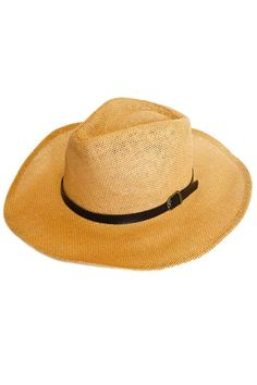 """Classic wide brim straw fedora. The perfect accessory for any outfit! It features a tonal leather band with a brass buckle.    Size: Inner rim approx. 22"""" around.   Straw Fedora by Glam Squad Shop. Accessories - Hats Las Vegas"""