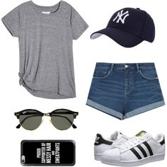 Baseball game outfit⚾️ by talyorsmtith on Polyvore featuring Zara, adidas Originals, Hartford, Casetify and Ray-Ban