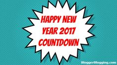 New Year 2017 Countdown Widget for Blogger Blogs