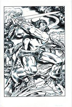 Conan by Jack Kirby and Bill Reinhold Comic Art