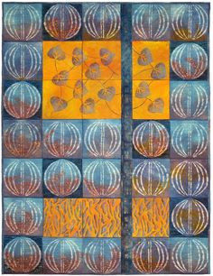 """""""Gate"""" by Anne Tuck -  3rd Prize, 2014 Festival of Quilts.  Contemporary Quilts (UK)."""