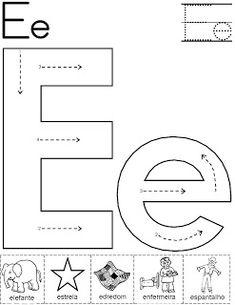 Alfabeto atividade para pintura com guache! Com setas - Alfabetos Lindos