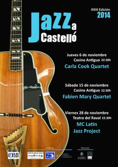 Jazz a Castelló 2014 Violin, Guitar, Jazz, Music Instruments, Theater, Activities, Musical Instruments, Jazz Music, Guitars