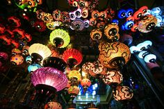 Lanterns in a shop in the Kapal& (Grand Bazaar) in Istanbul, Turkey Turkish Lights, Turkish Lamps, Turkish Lanterns, Chinese Lanterns, Grand Bazaar Istanbul, Four Seasons, Beautiful Places, Simply Beautiful, Around The Worlds
