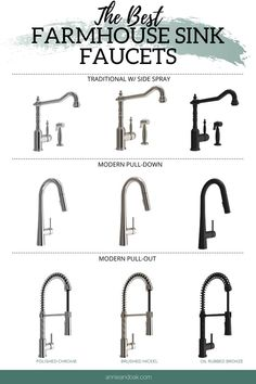Best Farmhouse Sink Faucet Best ideas for your farmhouse sink faucets. Best Farmhouse Sink Faucet Best ideas for your farmhouse sink faucets. Shop the best faucets styles to work with your fa. Farmhouse Sink Kitchen, Modern Farmhouse Kitchens, Kitchen Redo, Kitchen Styling, Faucets For Farmhouse Sinks, Farm House Kitchen Ideas, Farm House Sink, Country Kitchen Ideas Farmhouse Style, Double Farmhouse Sink