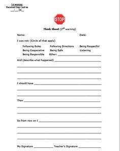 Image result for behavior letter for students