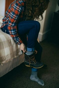 Flannel shirt and boots