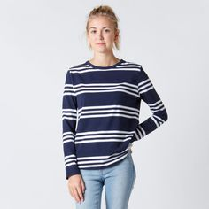 Huffer Eng. Avenue LS - White Stripe Summer Outfits, Cute Outfits, Teen Girl Fashion, What To Wear, Fashion Outfits, Chic, My Style, Clothing, Fabric