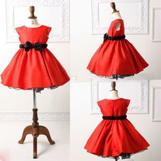 Fancy baby party dress/Satin princess dress with bowknot/Popular ball gown on Aliexpress.com