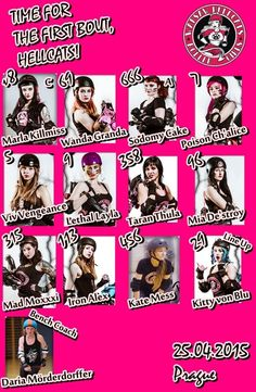 Players of Team Hellcats  for the first bout in our history!  Also first bout in history of Polish Roller Derby!