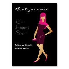 chic Pink fashion boutique Large Business Cards (Pack Of 100). Make your own business card with this great design. All you need is to add your info to this template. Click the image to try it out!