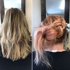 "PikkuMakkonen's Instagram profile post: ""#beforeandafter #beforeandafterhair #hair #haircolor #haircolorist #peachhair #colorance #pastelhair #goldwell #hairdresser…"" Hair Colorist, Haircolor, Peach Hair, Pastel Hair, Hairdresser, Dreadlocks, Profile, Long Hair Styles, Beauty"