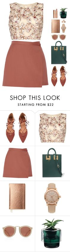 """""""// w a i t //"""" by theonlynewgirl ❤ liked on Polyvore featuring Raishma, Theory, Sophie Hulme, Kate Spade, Burberry, Karen Walker and Nude"""