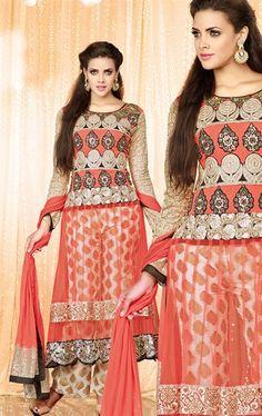 Marvelous Peach Color Stylish Salwar Kameez