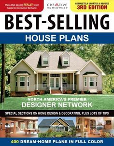 Buy Best-Selling House Plans (Ch) by Editors of Creative Homeowner at Mighty Ape NZ. Best-Selling House Plans offers readers 400 of our most-successful designs from leading architects and designers. Over 200 gorgeous full-color photogr. Dream House Plans, House Floor Plans, Dream Houses, Porches, Bluebird House Plans, Architecture Design Concept, House Design Pictures, House Plans With Photos, Bird House Kits