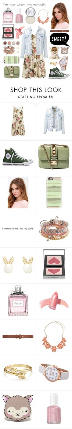 """""""Spring"""" by caticorn1234 ❤ liked on Polyvore featuring VILA, Valentino, LULUS, Casetify, Aéropostale, Lipsy, Terre Mère, Burberry, Christian Dior and Elizabeth Arden"""