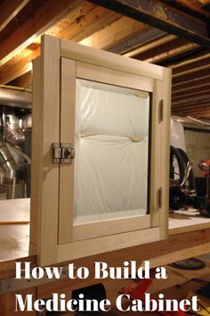 a tutorial video on how to build your own medicine cabinet bath house