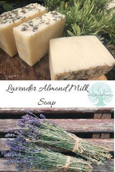 Lavender almond milk soap Soap Making Supplies, Face Scrub Homemade, Homemade Soap Recipes, Soap Molds, Lye Soap, Milk Soap, Beauty Recipe, Cold Process Soap, Home Made Soap
