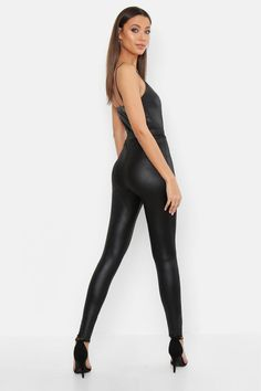 Womens Tall Leather Look Front Seam Leggings - black - 12 Sexy Leggings Outfit, Leather Pants Outfit, Leather Leggings, Black Leggings, Monaco, Pool Party Outfits, Vinyl Leggings, Thigh High Boots Heels, Tall Clothing