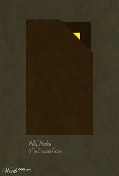 Willy Wonka and the Chocolate Factory minimalist simple movie poster