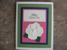 Mother's Day Card Handmade with a Gardenia by eyepoppingcreations, $4.00