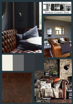Country Club interior with Dulux Linnet White, Farrow and Ball Plummet, Farrow and Ball Down Pipe, Farrow and Ball Hague Blue. Full details on Modern Country Style blog