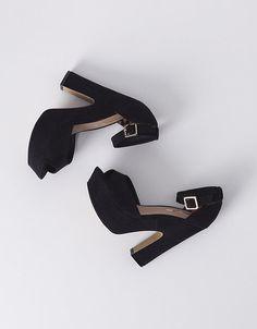 Sandales à talons plateforme suédine | TALONS | SOLDES | SHOP ONLINE SUITEBLANCO.COM