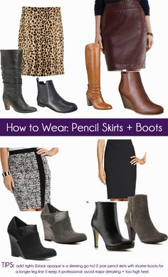 How to Wear Skirts with Boots