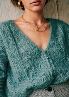 V Neck Cardigan, Knit Cardigan, French Girl Style, My Style, Sweet Style, Jumper, Lookbook, Parisian Style, Winter Collection