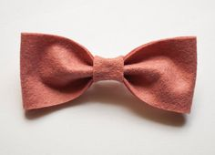 Vintage Pink Handmade Felt Bow Tie by MaryRebecca on Etsy, $5.00