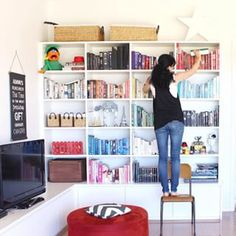 You've got to be in it to win it! Sharing my coloured coded bookcase for @homebeautiful magazine's giveway #HBshelfie - a @nocturnacandles pack! Gosh I love candles