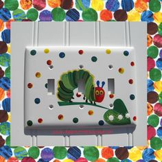 The+Very+Hungry+Caterpillar+Double+Light+Switch+Plate www.funkyletterboutique.com   kids décor   etsy handmade decor