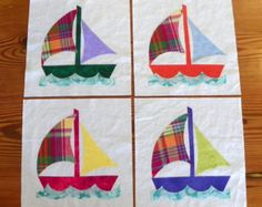 Nautical Quilt Block Set - Calypso Breeze