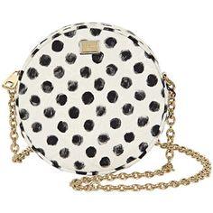 Dolce & Gabbana White & Black Cotton Polka Dot Print Skirt