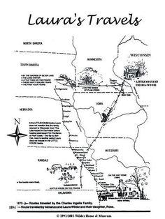 travelmap Laura Ingalls